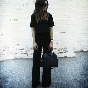 Theory 'Emery' Silk Wide Leg Trousers size 4